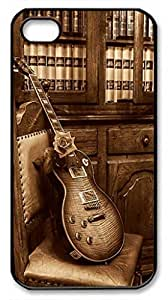iCustomonline Gibson Les Paul Hdri Back Cover Snap on Case for iPhone 4 4S