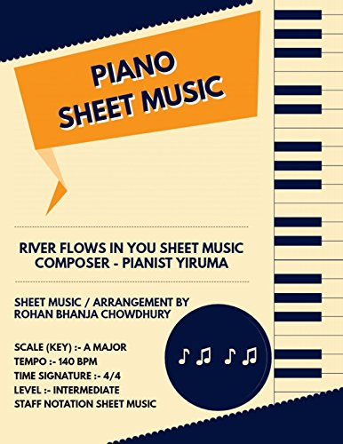 River Flows In You Staff Notation Sheet Music : Pianist Yiruma Songs On Piano Staff Notation Sheet - Sheet Piano Yiruma Music