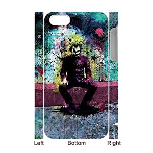 3D [The Joker] Colorful Joker For Samsung Galaxy S6 Case Cover Hipster Design for Women {White}