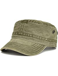 7758675cc04502 Washed Cotton Military Caps Cadet Army Caps Unique Design Vintage Flat Top  Cap