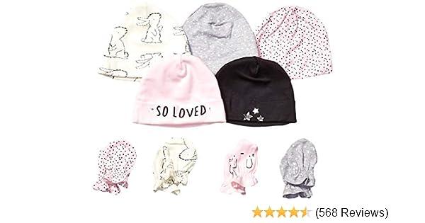 Onesies Brand Baby Girls 12-Piece Cap and Mitten Set