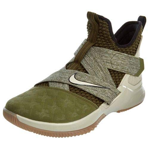 Nike Lebron Soldier XII Mens Basketball-Shoes AO2609-300_12 - Olive Canvas/String-Gum Light Brown