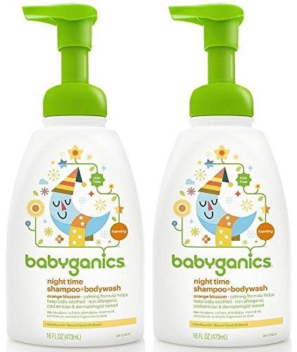 Babyganics Shampoo And Body Wash Night Time Orange Blossom, 16 Ounce, 2 Pack by Babyganics