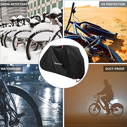 MOVTOTOP Universal Waterproof Bicycle Cover Bike Sun//Rain//Snow//Dust Protector XL