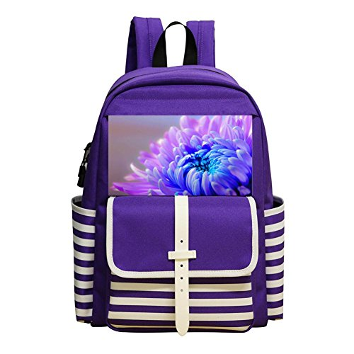 Gorgeous Flowers Children Backpack For School Travel Backpack Of Purple