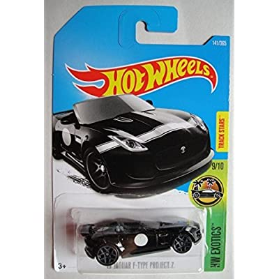 Hot Wheels 2020 HW Exotics '15 Jaguar F-Type Project 7 141/365, Black: Toys & Games