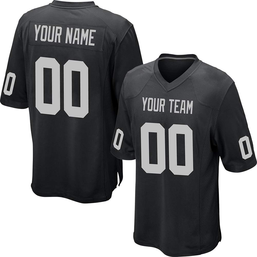 292b1c94cbf Custom Black Mesh Replica Football Game Jersey Embroidered Team Name and  Your Numbers product image