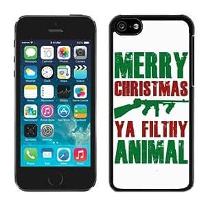 Best Buy Iphone 5C TPU Case Merry Christmas Black iPhone 5C Case 20