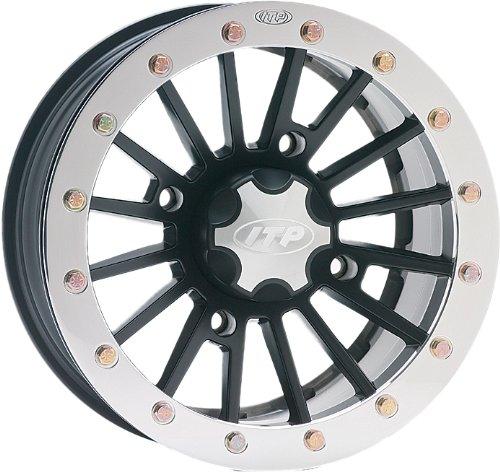(ITP SD-Series Single Beadlock Wheel - 12x7 - 4+3 offset - 4/156 - Matte Black , Bolt Pattern: 4/156, Rim Offset: 4+3, Wheel Rim Size: 12x7, Color: Black, Position: Front/Rear 1228528536B)