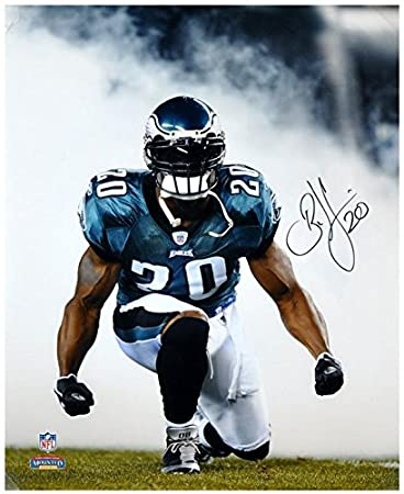 Brian Dawkins Philadelphia Eagles Autographed 16 quot  x 20 quot  Smoke  Shot Black Ink Photograph - 303f83a8f