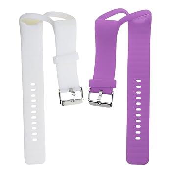 IPOTCH 2X Bandas de Muñequera Compatible con Polar A360 Reloj Inteligente de Color Morado con Blanco: Amazon.es: Electrónica