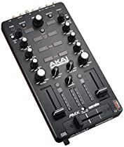 Akai Professional AMX | 2-channel Mixing Surface with Audio Interface for Control of 2-decks of Serato DJ