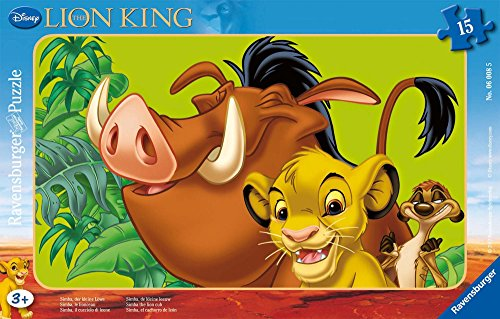 Ravensburger Puzzle - 06008 - Children with The Lion King - Simba The Lion - 15 Pieces ()