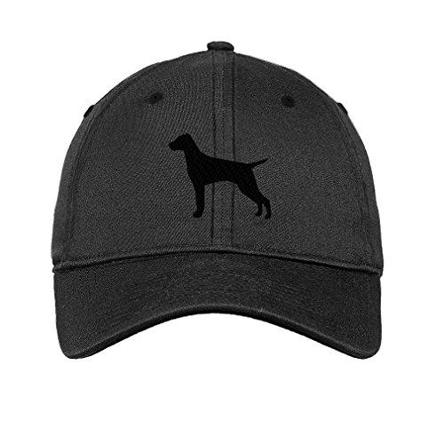 Vizsla Silhouette Twill Cotton 6 Panel Low Profile Hat Dark Denim (Vizsla Hat)