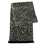 Cashmere Feel Scarf, for women, Multicolor Blanket Wrap, by SERENITA, Abstract Mint