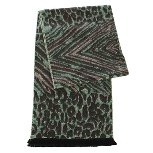 Cashmere Feel Scarf, for women, Multicolor Blanket Wrap, by SERENITA, Abstract Mint by SERENITA
