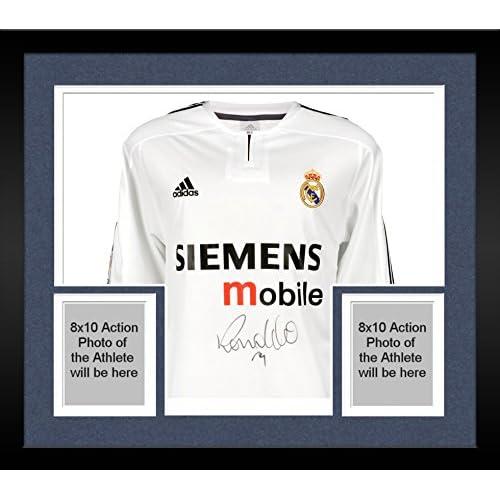 online retailer 7d1de cf14d Framed Ronaldo Real Madrid Autographed 2003-2004 White ...