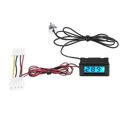 Prosperveil - Termómetro con pantalla LED para sistema de refrigeración de agua