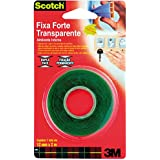 Fita Dupla Face 3M Scotch Fixa Forte Transparente - Uso Interno - 12 mm x 2 m, Scotch, HB004419873