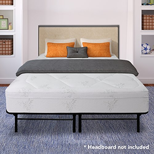 Best Price Mattress 12 Inch Grand Memory Foam Mattress and 14 Inch Premium Steel Bed Frame/Platform Bed Set, King