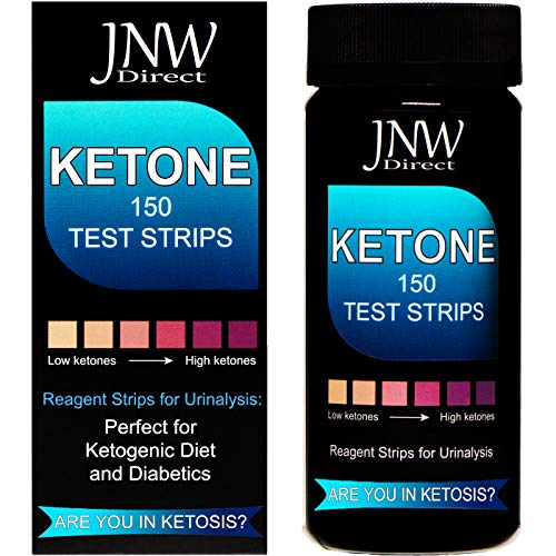 Ketone Test Strips, 150 Urinalysis Keto Test Strips for Testing Body Urine Ketosis Levels, Perfect Kit for Diabetics, Ketogenic and Weight Loss Diets (Keto Test Strips)