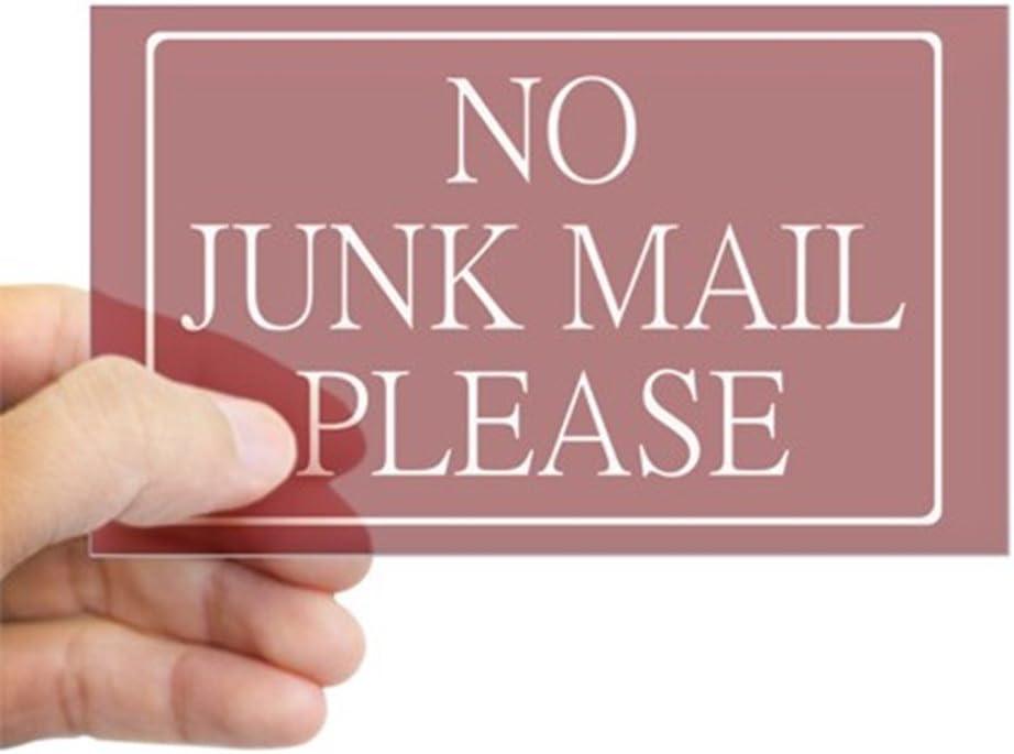 No Junk Mail Sticker rect. Wide Rectangular - Sticker CafePress