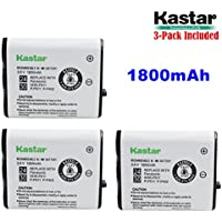 Kastar HHR-P511 / HHR-P402 Battery (3-Pack), Type 24 / 30 NI-MH Rechargeable Cordless Telephone Battery 3.6V 1800mAh, Replacement for Panasonic HHR-P511, HHR-P402, P-P511, P-P511A, HHR-P402A