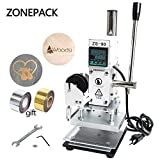 ZONEPACK 1013cm Digital Embossing Machine Hot Foil Stamping Machine Manual Tipper Stamper for PVC Leather Pu and Paper Stamping with Paper Holder and Scale