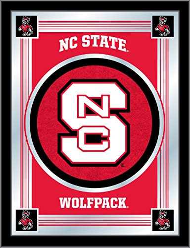 State Wolfpack Bar Stool - NC State Wolfpack Holland Bar Stool Co. Collector Red Logo Mirror (17