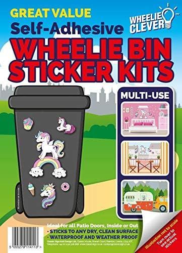 Lilly Design High Quality Designer Wheelie Bin Vinyl Self Adhesive Stickers For Dustbin Caravan Fridge Household Items