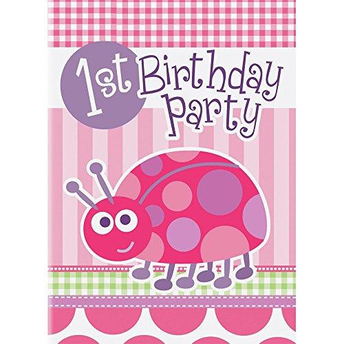 First Birthday Ladybug Invitations (1st Birthday Halloween Party Invitations)