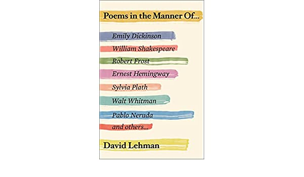 Poems In The Manner Of English Edition Ebook David Lehman