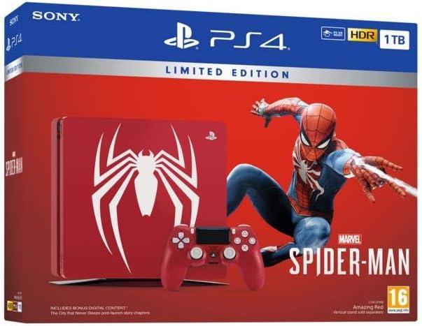 PS4 Slim 1 To F Marvels Spider-Man Limited Edition + Marvels Spider-Man - Standard + Edition [Importación francesa]: Amazon.es: Videojuegos