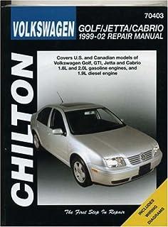 Volkswagen Golf Jetta Gti 1999 2005 Repair Manual Chilton S Total Car Care Repair Manuals Chilton 9781563927188 Amazon Com Books