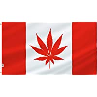 Rhungift Outdoor Flag 3X5 FT. Flags Breeze Vivid Color and UV Fade Resistant - Printed Maple Leaf Polyester and Brass Grommets