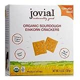 Jovial Organic Tomato Basil Sourdough Einkorn Cracker, 4.5 Ounce -- 10 per case.