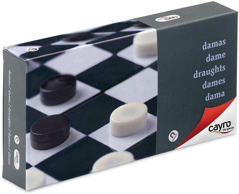 Cayro - Damas Magnético de Viaje— Juego de observación y lógica - Juego Mesa - Desarrollo de Habilidades cognitivas e inteligencias múltiples - Juego Tradicional (406): Amazon.es: Juguetes y juegos