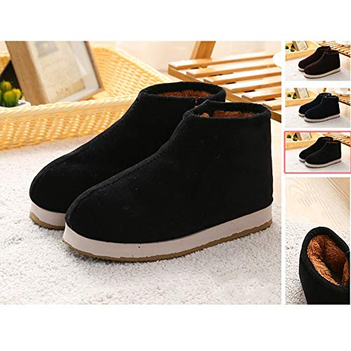 Slip Memory Lining Slippers on Foam Shoes House Black Bootie Plush BUYITNOW Woven Comfort Women's wRCxqZ4