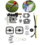 Podoy Weed Eater Carburetor for ECHO Trimmer Parts SRM210 Tune Up Kit Air Filter Cleaner Tool Grommet SRM210i SRM210U SRM211 SRM211i SRM211U GT200 GT200i GT201i HC200 HC201 PE201 PPF210 PE200 Carb