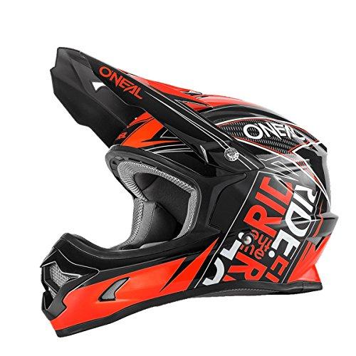 O'neal 3 Series Motocross Enduro MTB Helm Fuel schwarz/rot 2017 Oneal: Größe: M (57-58cm)