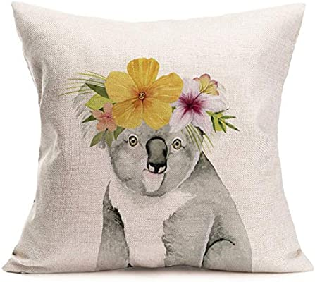 "Pillow Natural Scenery Print Cotton Linen Sofa Case Cushion Cover Home Decor 18/"""