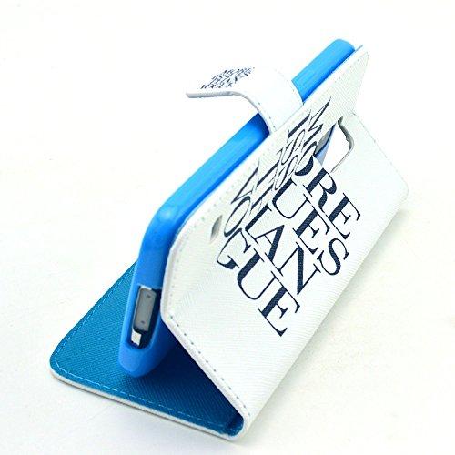 PowerQ [ para IPhoneSE IPhone 5S SE 5G 5 IPhone5 IPhone5S - 7 ] PU Funda Serie bolsa Modelo colorido con bonito hermoso patrón de impresión Impresión Dibujo monedero de la cartera de la cubierta móvil 17