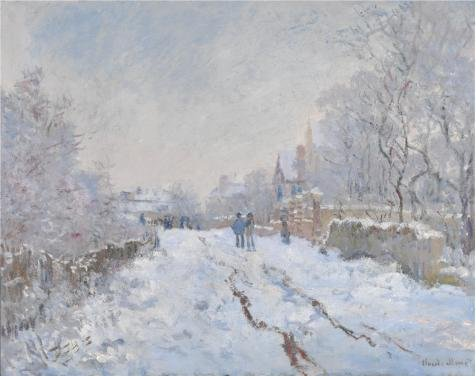 Perfect Effect Canvas ,the Vivid Art Decorative Prints On Canvas Of Oil Painting 'Claude-Oscar Monet - Snow Scene At Argenteuil,1875', 16x20 Inch / 41x51 Cm Is Best For Hallway Decor (3d Halloween Wallpaper For Mac)