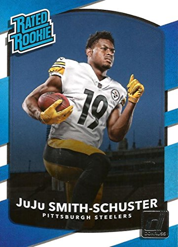 2017 Donruss #326 JuJu Smith-Schuster Pittsburgh Steelers Rated Rookie Football (Smith Football Card)