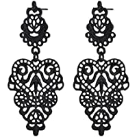 New Fashion Women Bohemian Black Alloy Pierced Long Dangle Drop Earrings WelcomeShop