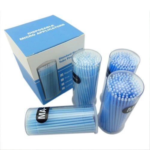 400 Pieces Dental Disposable Product Easyinsmile Dental Micro Applicator Brush Bendable Regular Blue Dia.2.5 Mm