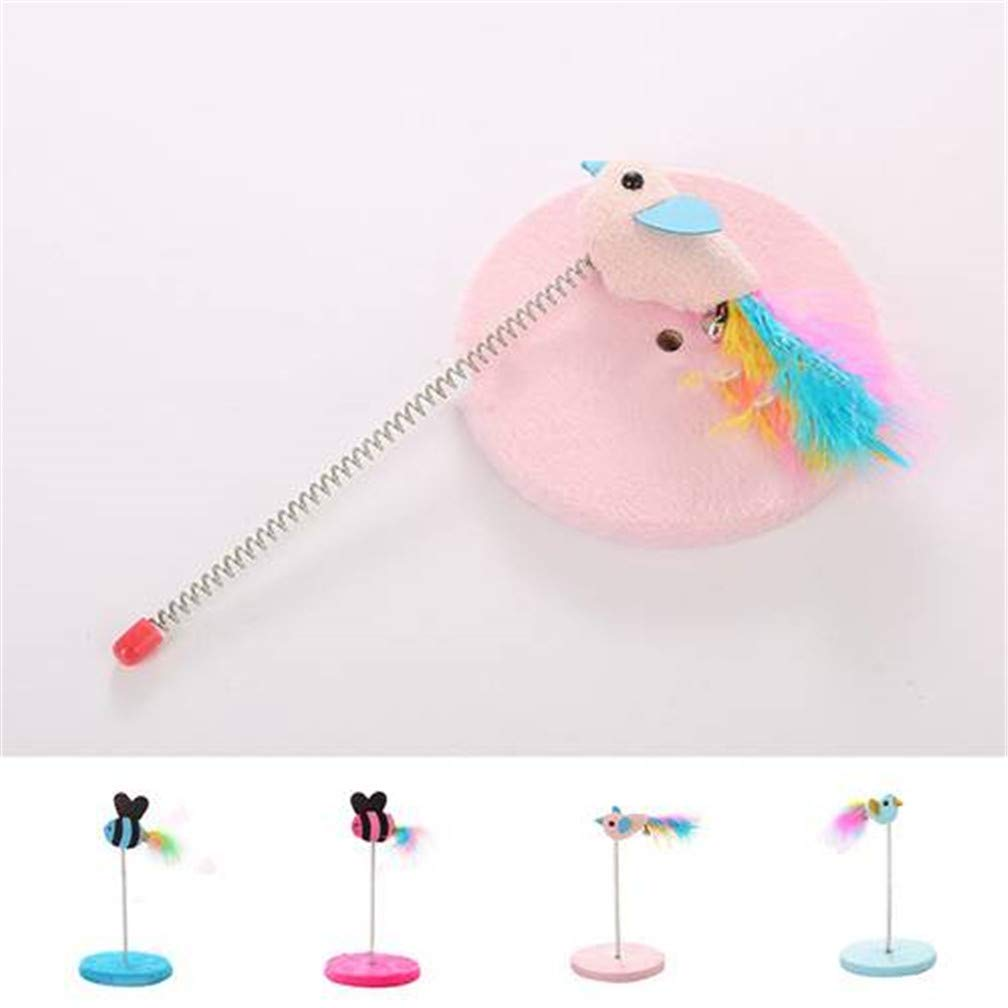 4pieces Spring Cat Toy Pet Dog Funny Play Interactive Mouse Disk cat Scratch Board,4pieces