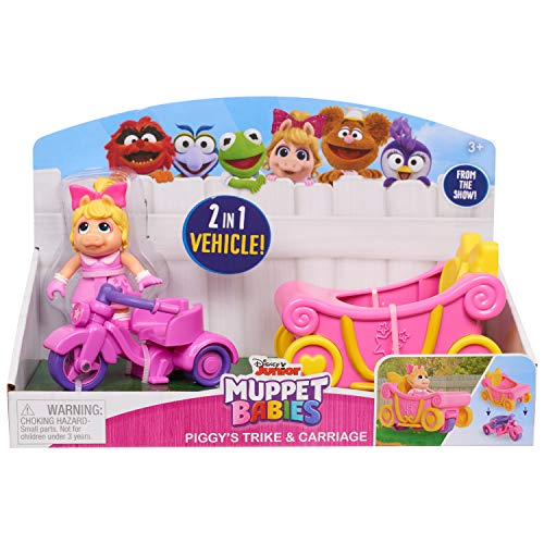 Muppets 14432 Babies Piggy N Trike N Carriage, Multicolor