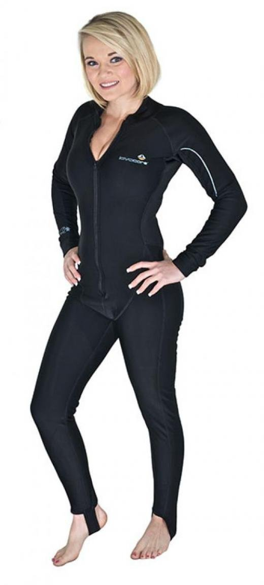 New Women's LavaCore Trilaminate Polytherm Full Jumpsuit (2X-Large) with Front Zipper for Extreme Watersports
