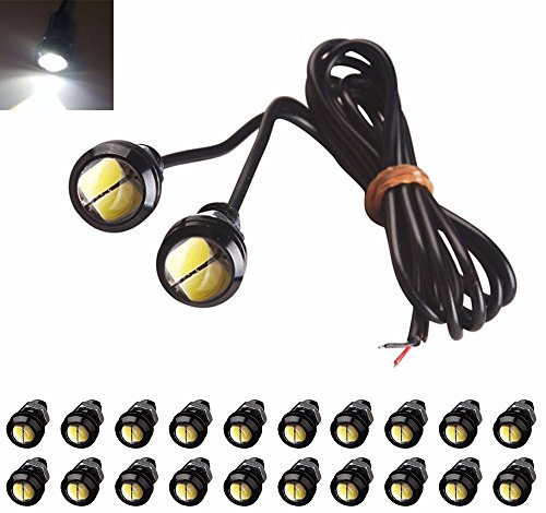 AUTOUS90 20 X 18mm Eagle Eye LED 5730 9W Car Motor DRL Backup White Lights bulbs